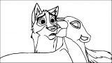 Reuploaded Tlk Balto Base Wolf Coloring Page