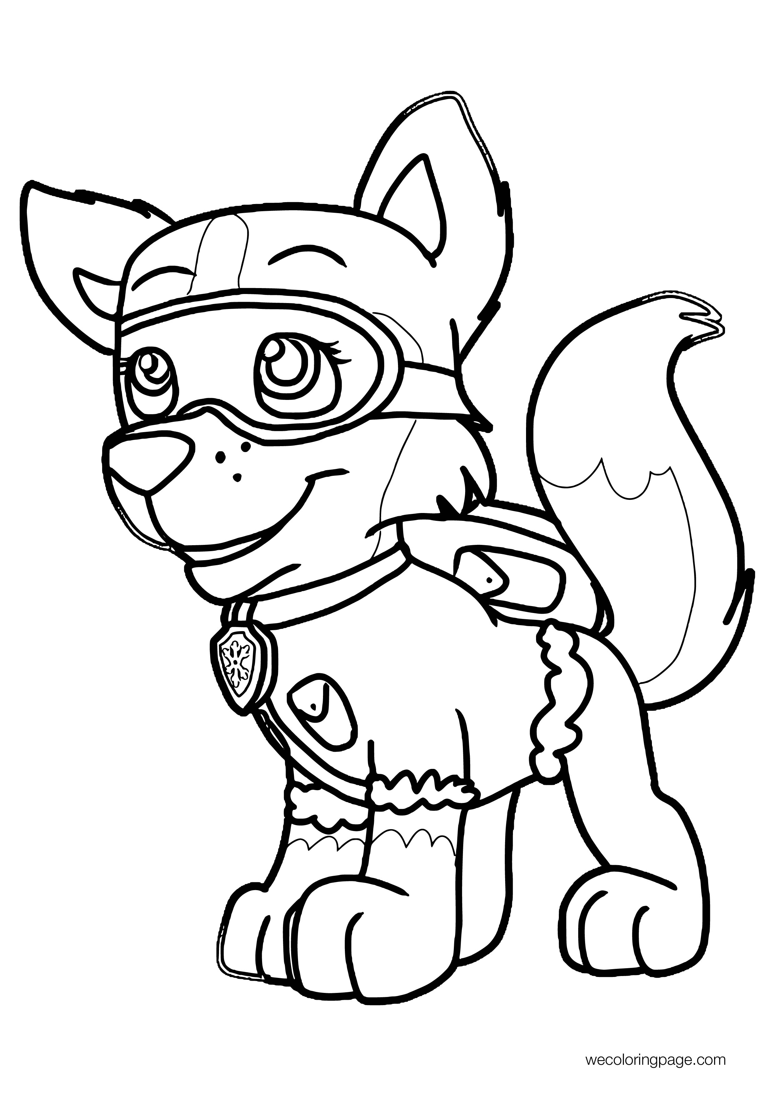 Rush To The Rescue With Wagging Tails Coloring Page