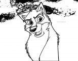 Satfire Wolf Coloring Page