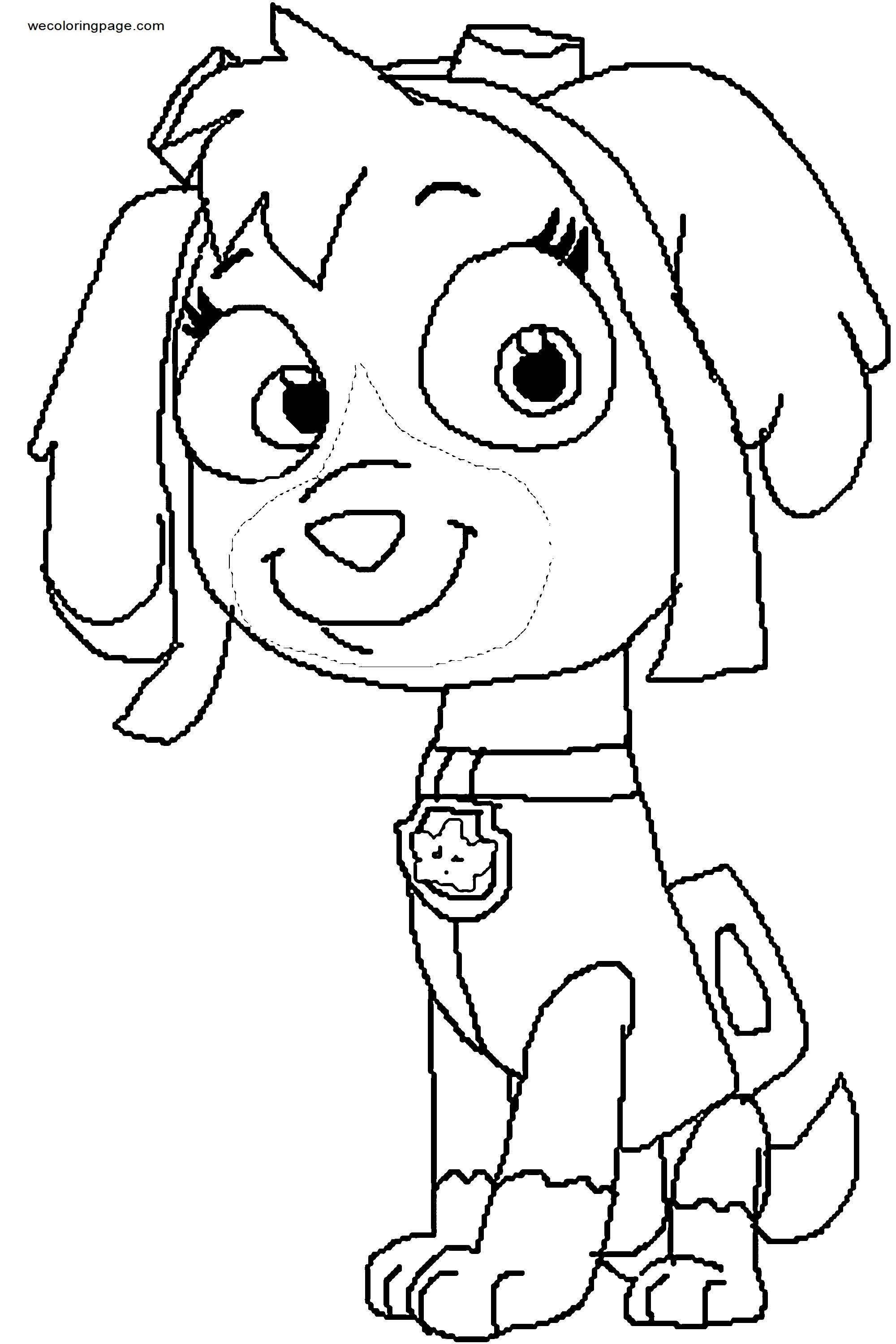 Skye P A W Patrol Justin And Dennnis Dcwart Coloring Page