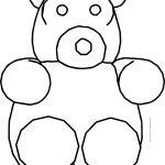Small Fat Bear Cartoon Coloring Page