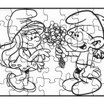 Smurf Puzzle Coloring Page