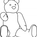 Stay Bear Cartoon Coloring Page