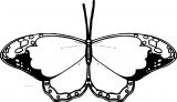 Sunglasses Clipart Black And White Butterfly Coloring Page