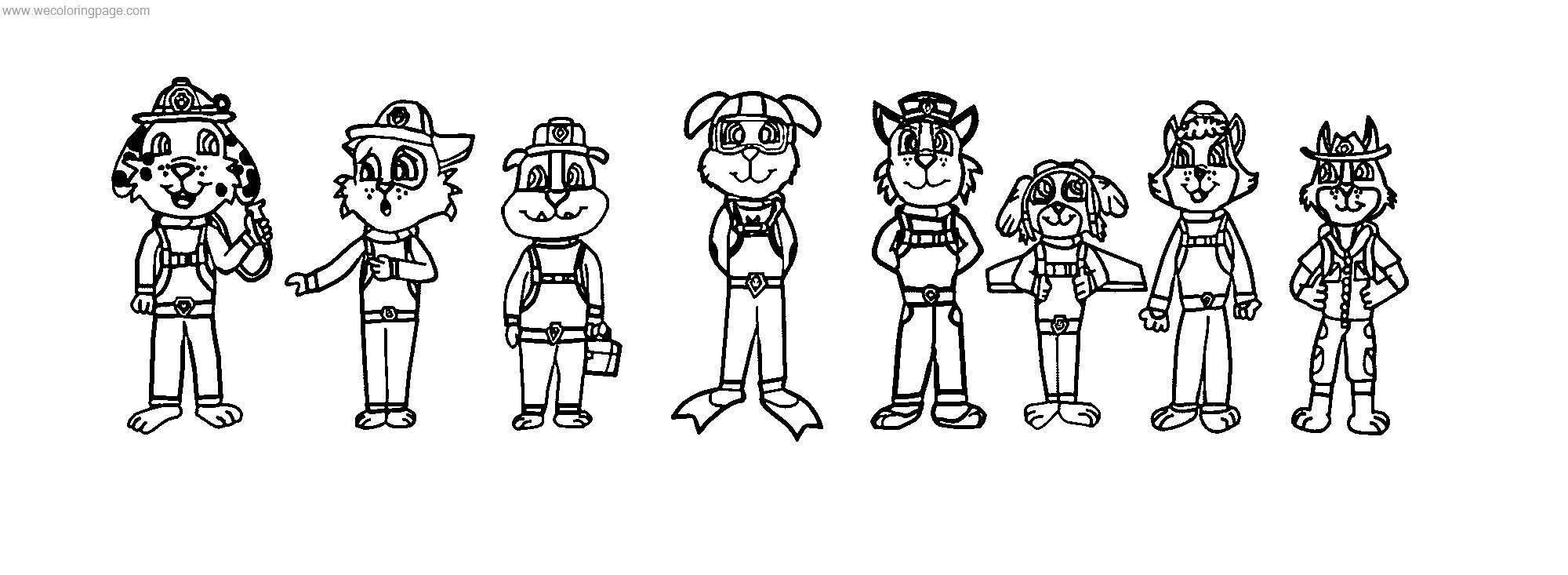 The Paw Patrol In My Style By Theevstar Dwaf Coloring Page