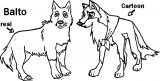 The Real Balto Cartoon Balto Coloring Page