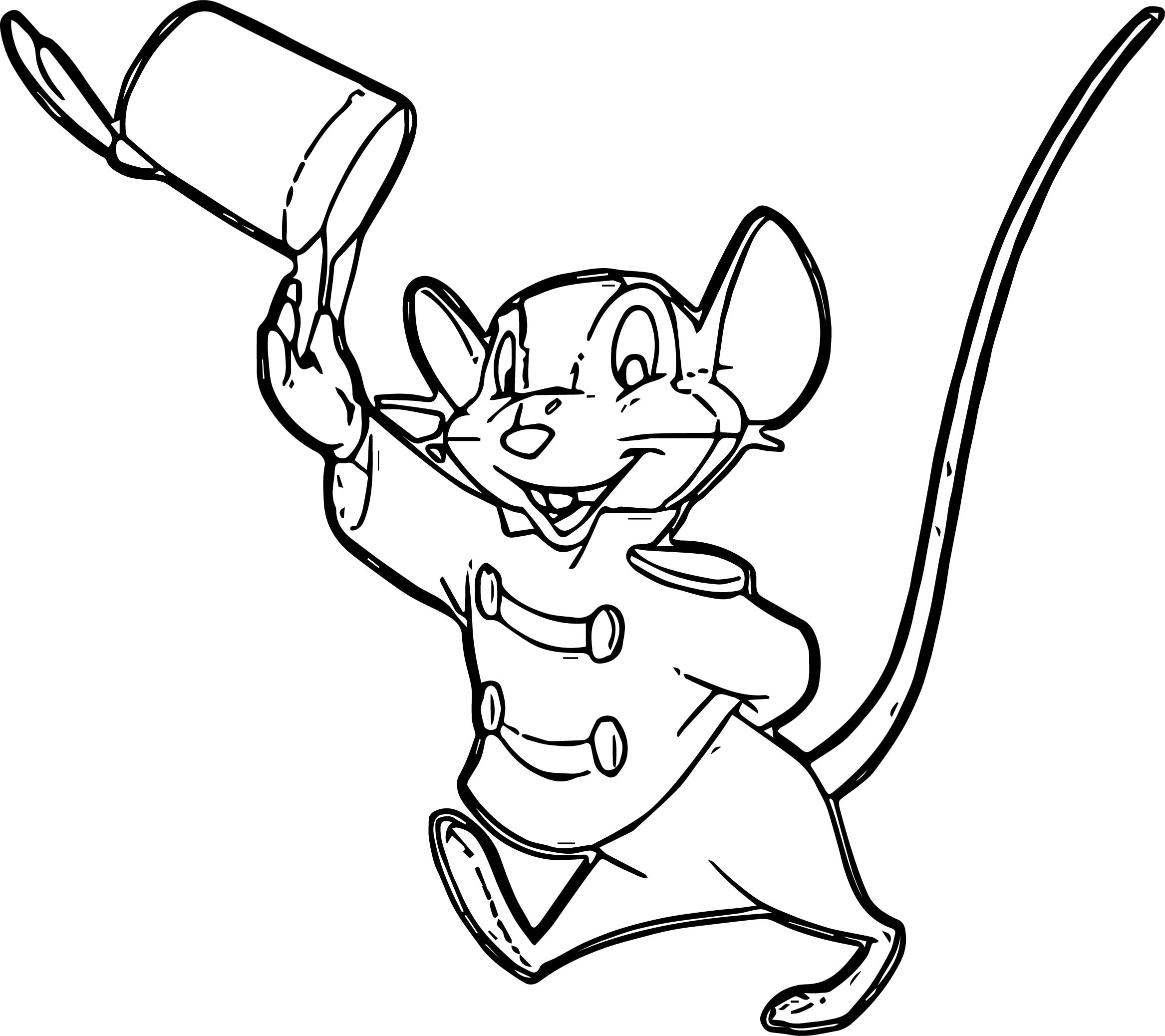Timothy Happy Hello Coloring Page