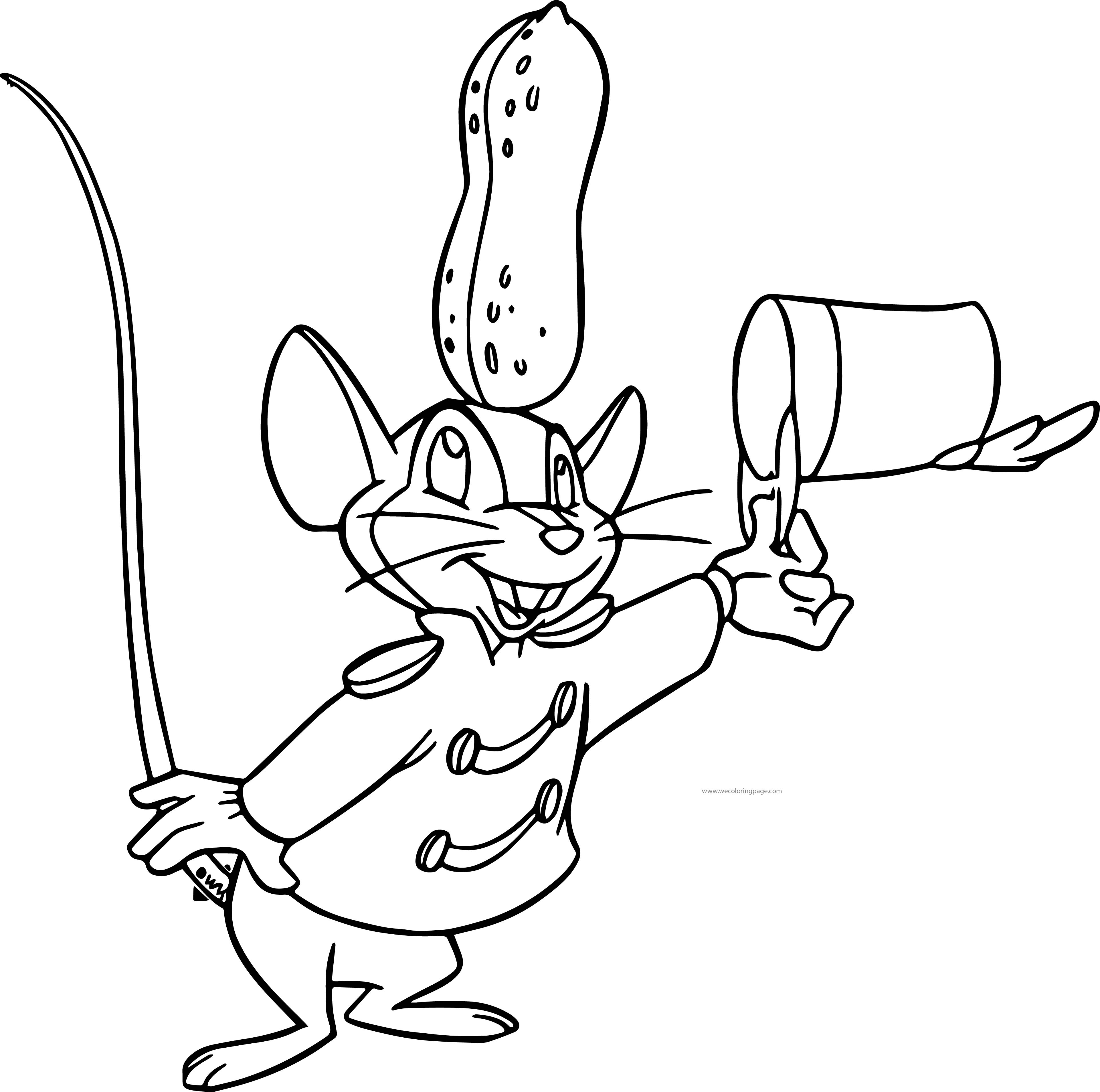 Timothy Mouse Peanut Coloring Page