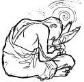 Tumblr NguodAfIukto Avatar Aang Coloring Page
