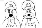 Tundra & Icee Mario & Luigi Coloring Page