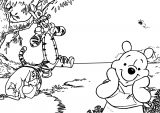 Winnie The Pooh A4 Print Coloring Page