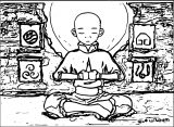 Wisdom Of The Avatar Aang Mondamo Avatar Aang Coloring Page