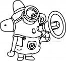 lovely decoration minion coloring pages kevin bob despicable me 2 outline