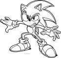 Angry Sonic The Hedgehog Coloring Page