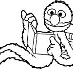 April Reading Book Sesame Street Coloring Page