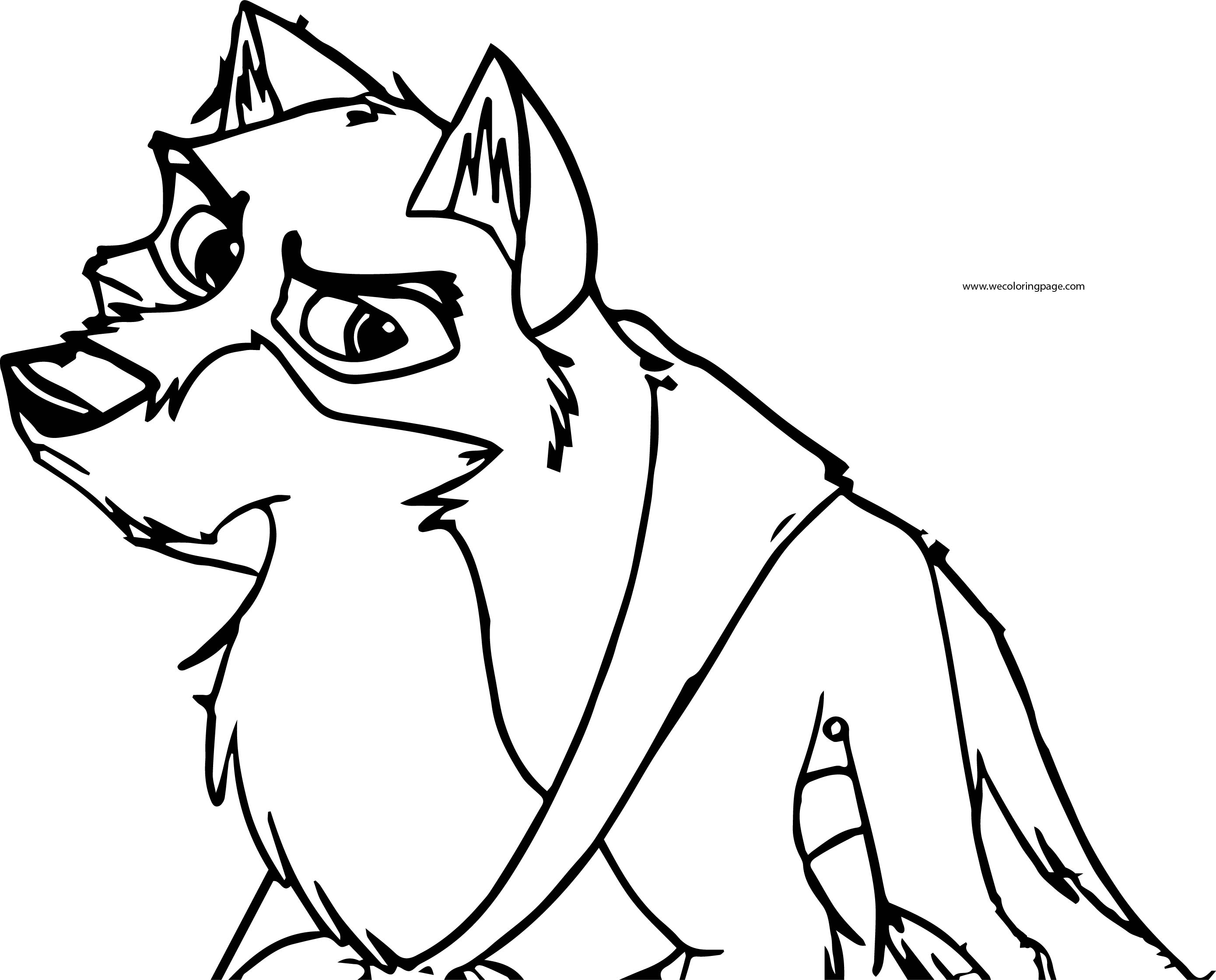 Balto Coloring Page 08