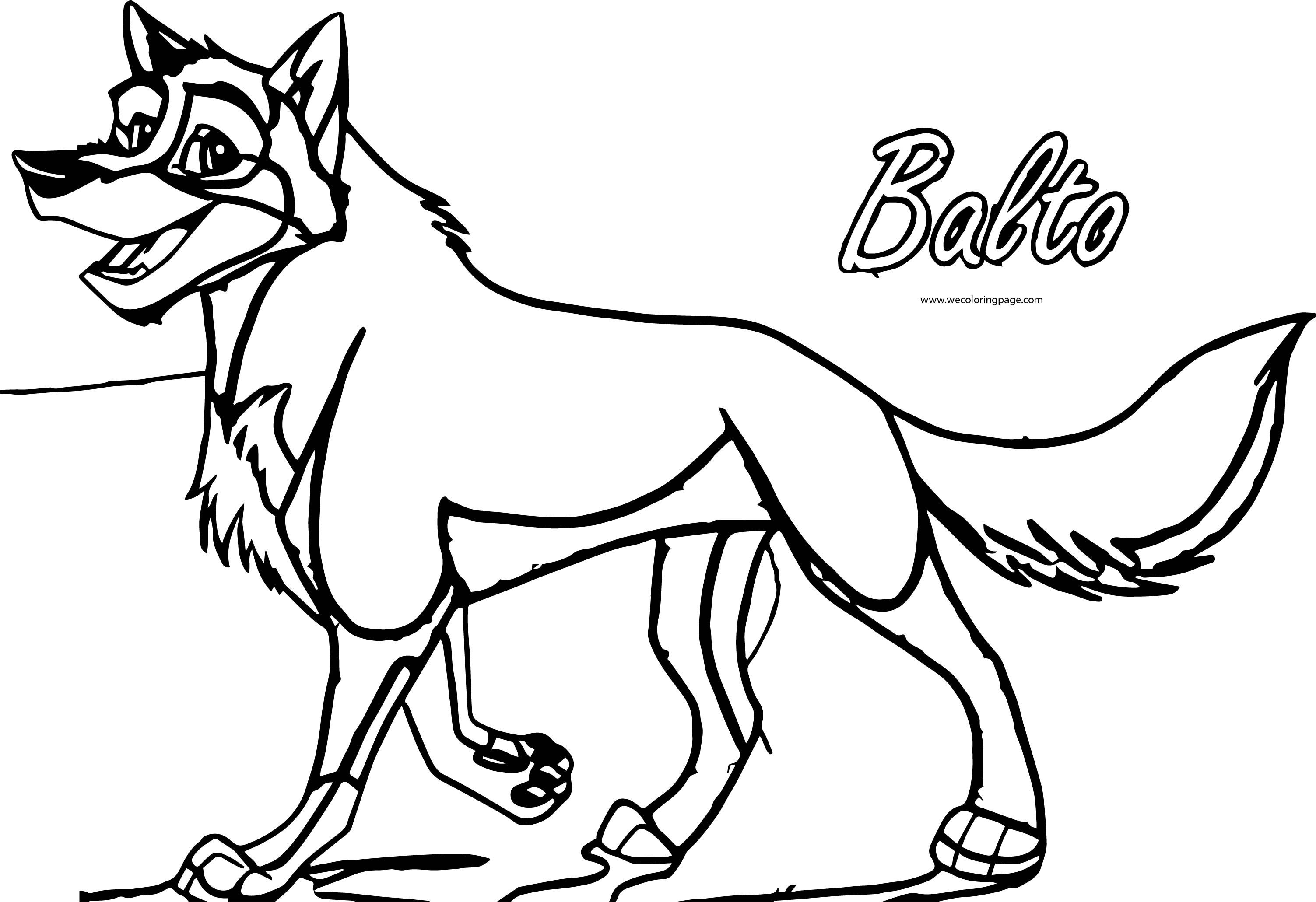 Balto Wolf Coloring Page 092
