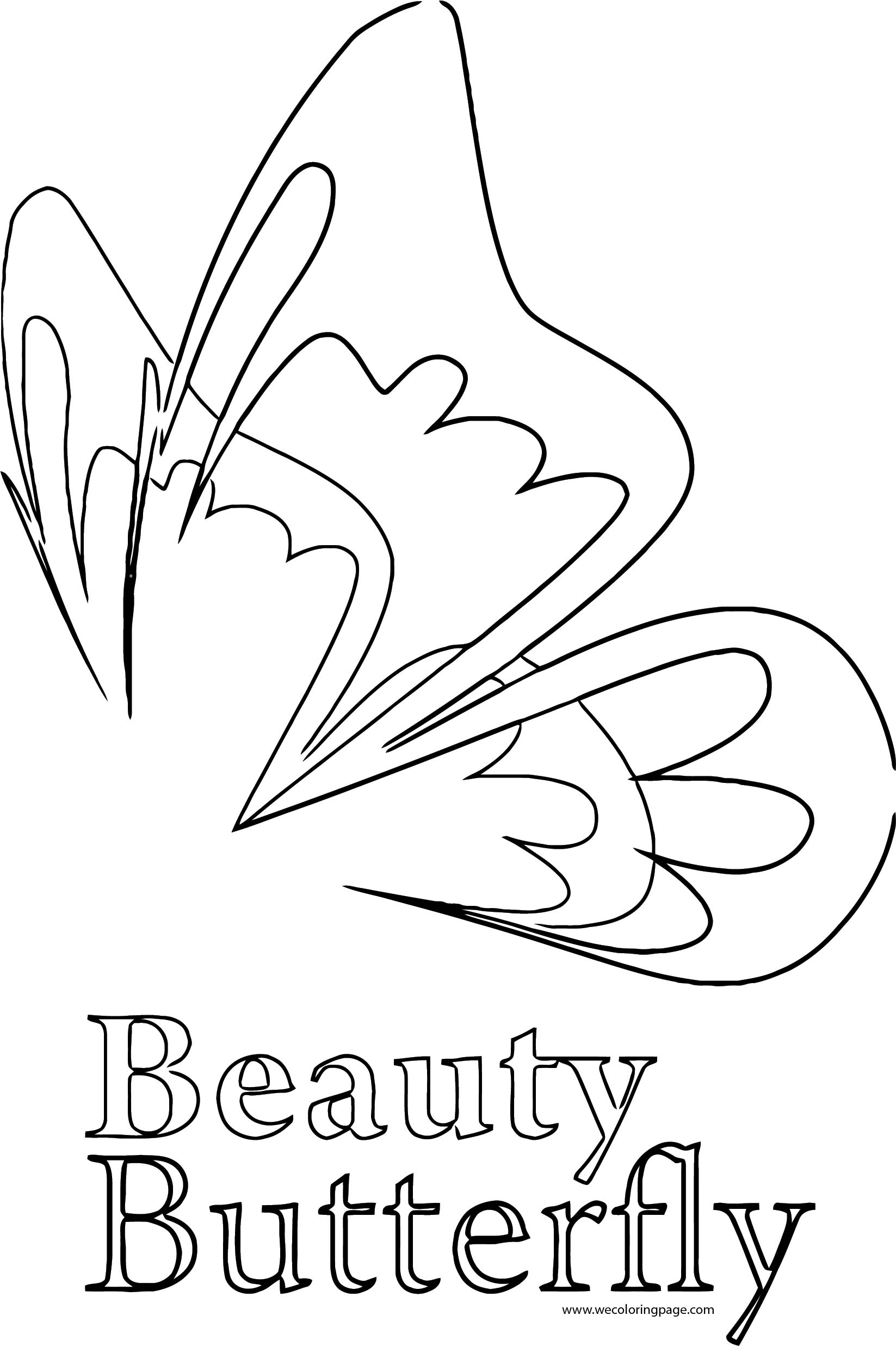 Beauty Butterfly Coloring Page