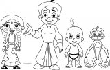 Bheem Team Chhota Bheem Coloring Page