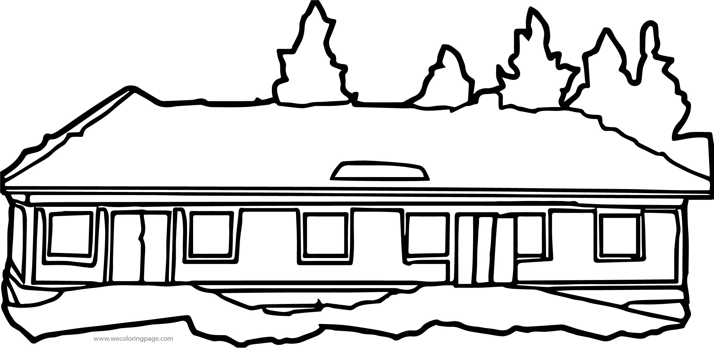 Big House Coloring Page