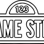 Big Logo Sesamestreet Sesame Street Coloring Page