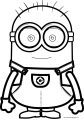 Bob Minion Very Cute Coloring Page