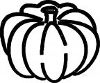 Bold Fall Pumpkin Coloring Page