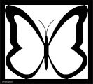Butterfly Black Frame Coloring Page