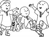 Caillou Coloring Page WeColoringPage 011