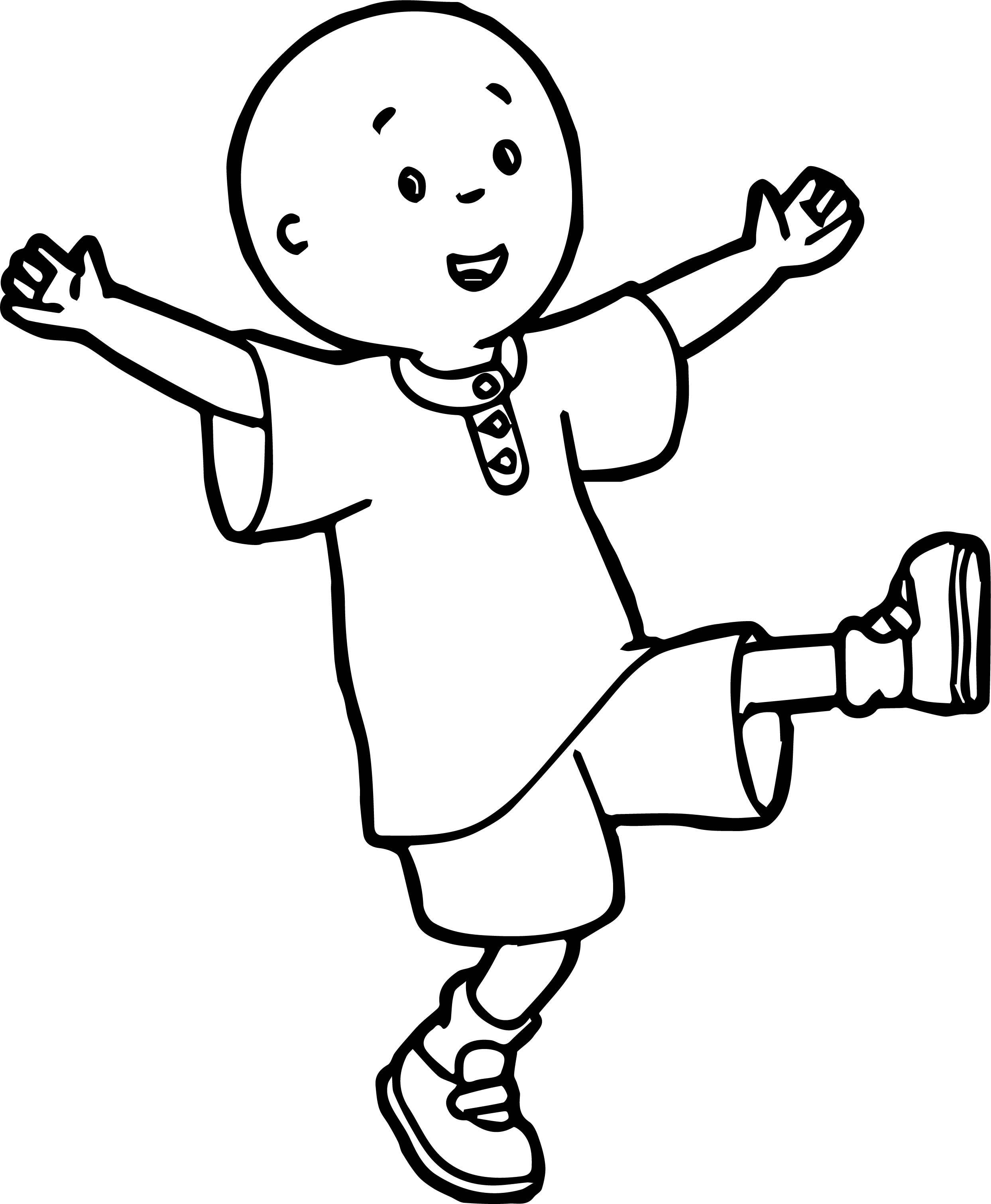 Caillou Coloring Page WeColoringPage 049