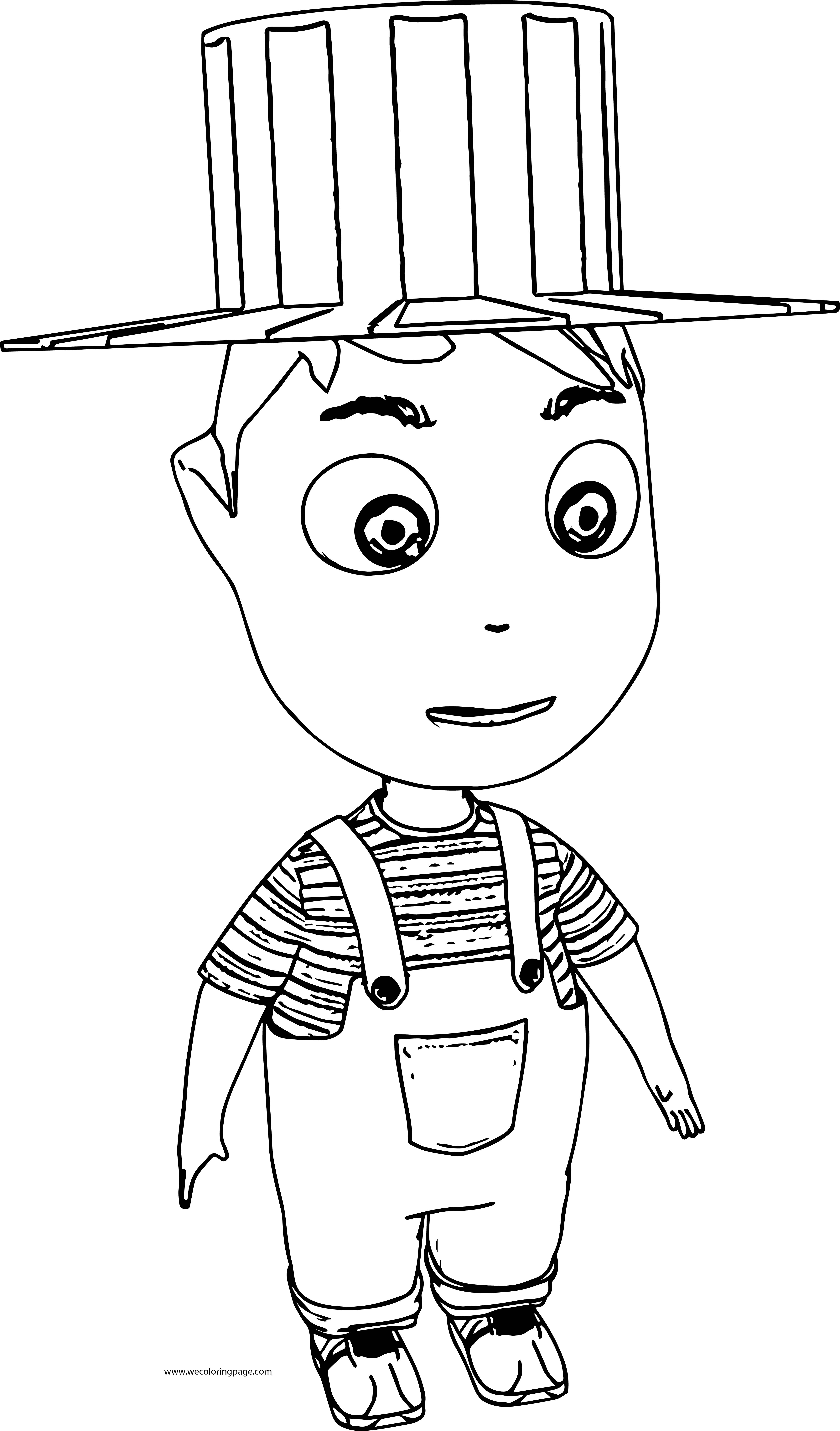 Cartoon Boy With Hat Coloring Page