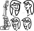 Character Design Assignment Woman Face Coloring page