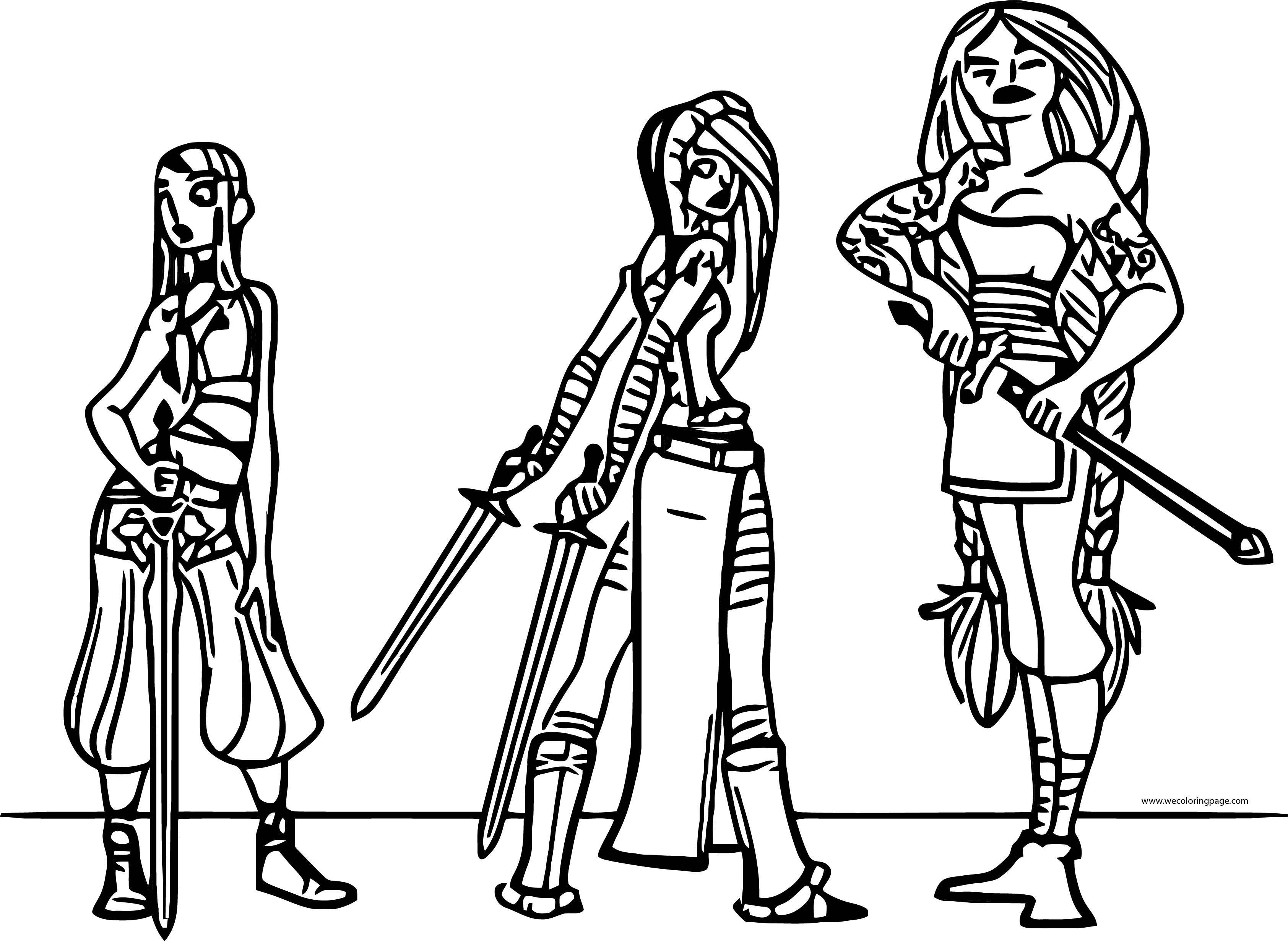 Character Design Clara The Sword Viking Coloring Page