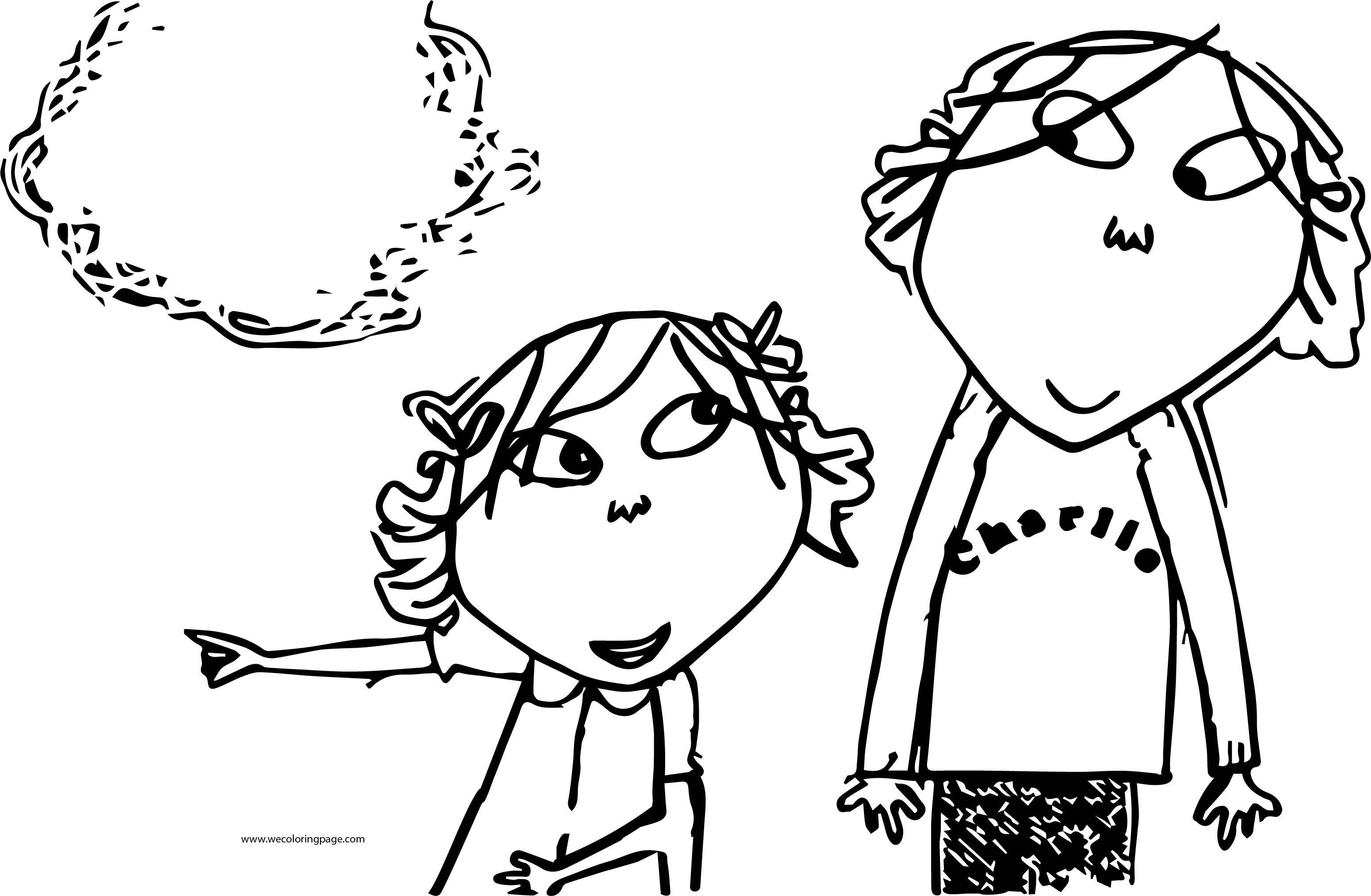 Charlie And Lola Coloring Page 25