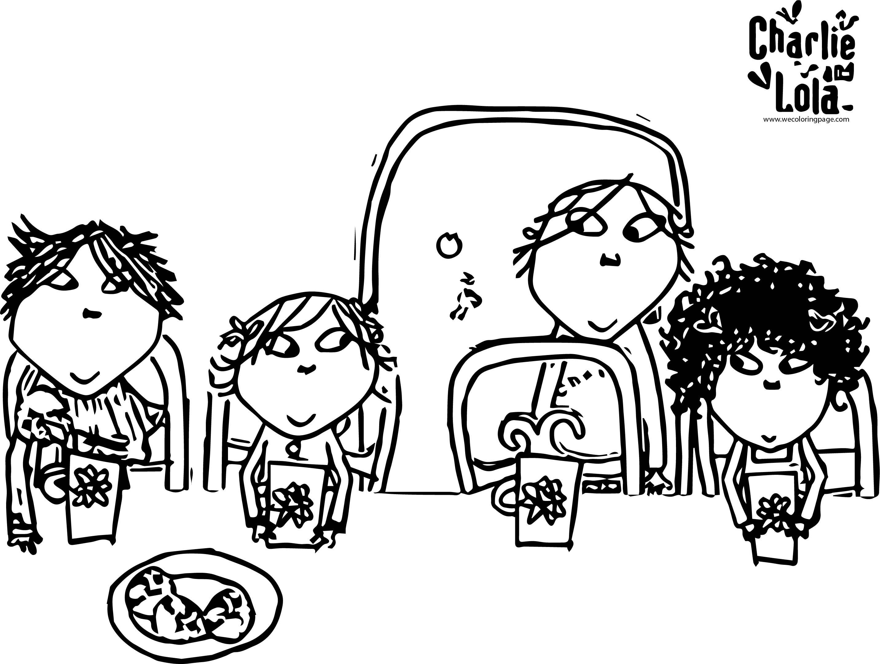 Charlie And Lola Coloring Page 28