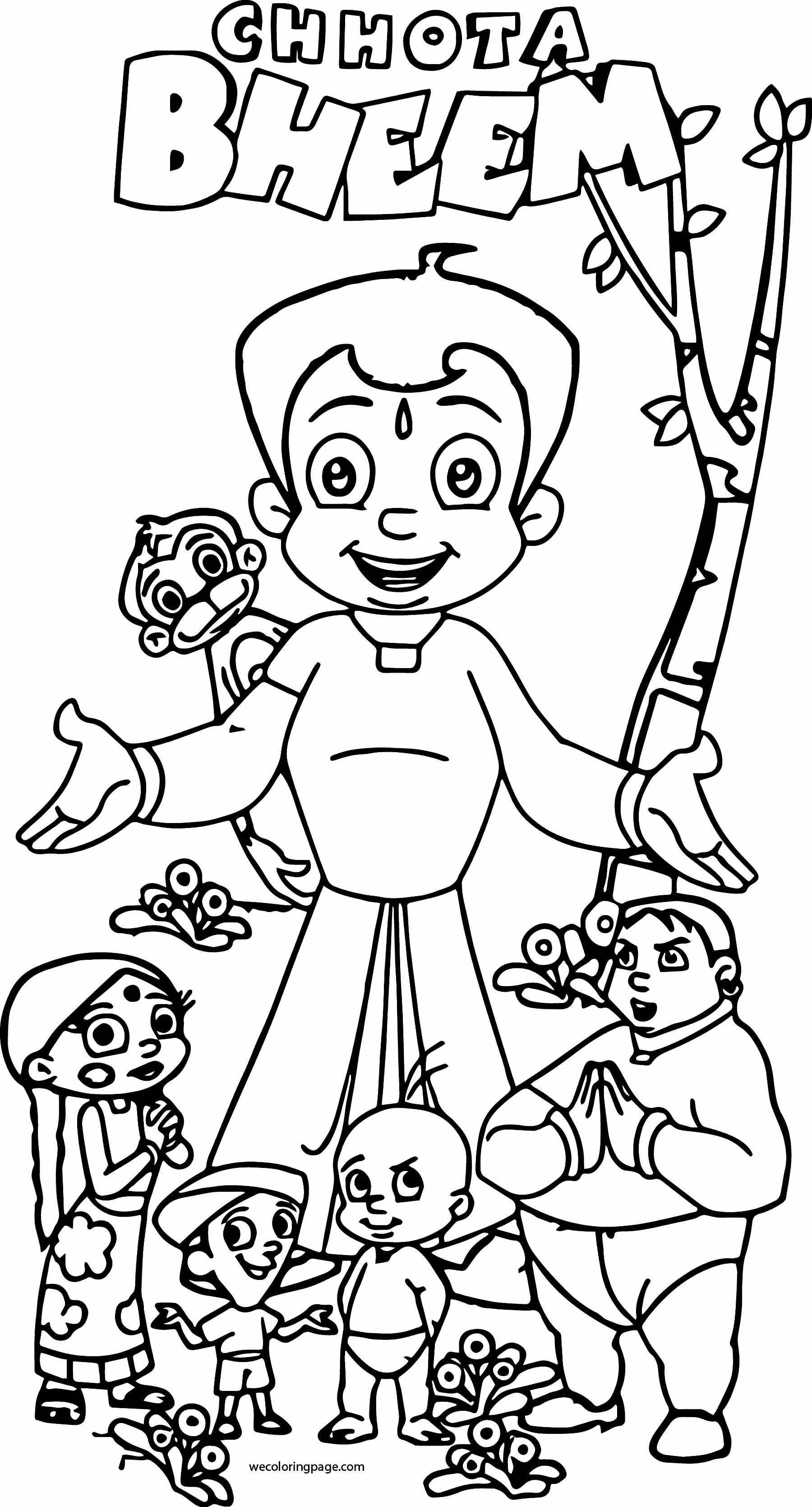 Chhota Bheem And Friends Play Coloring Page 37