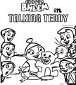 Chhota Bheem And Friends Talking Teddy Bear Coloring Page 46