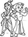Chhota Bheem And Krishna Coloring Page