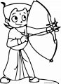 Chhota Bheem Archer Coloring Page
