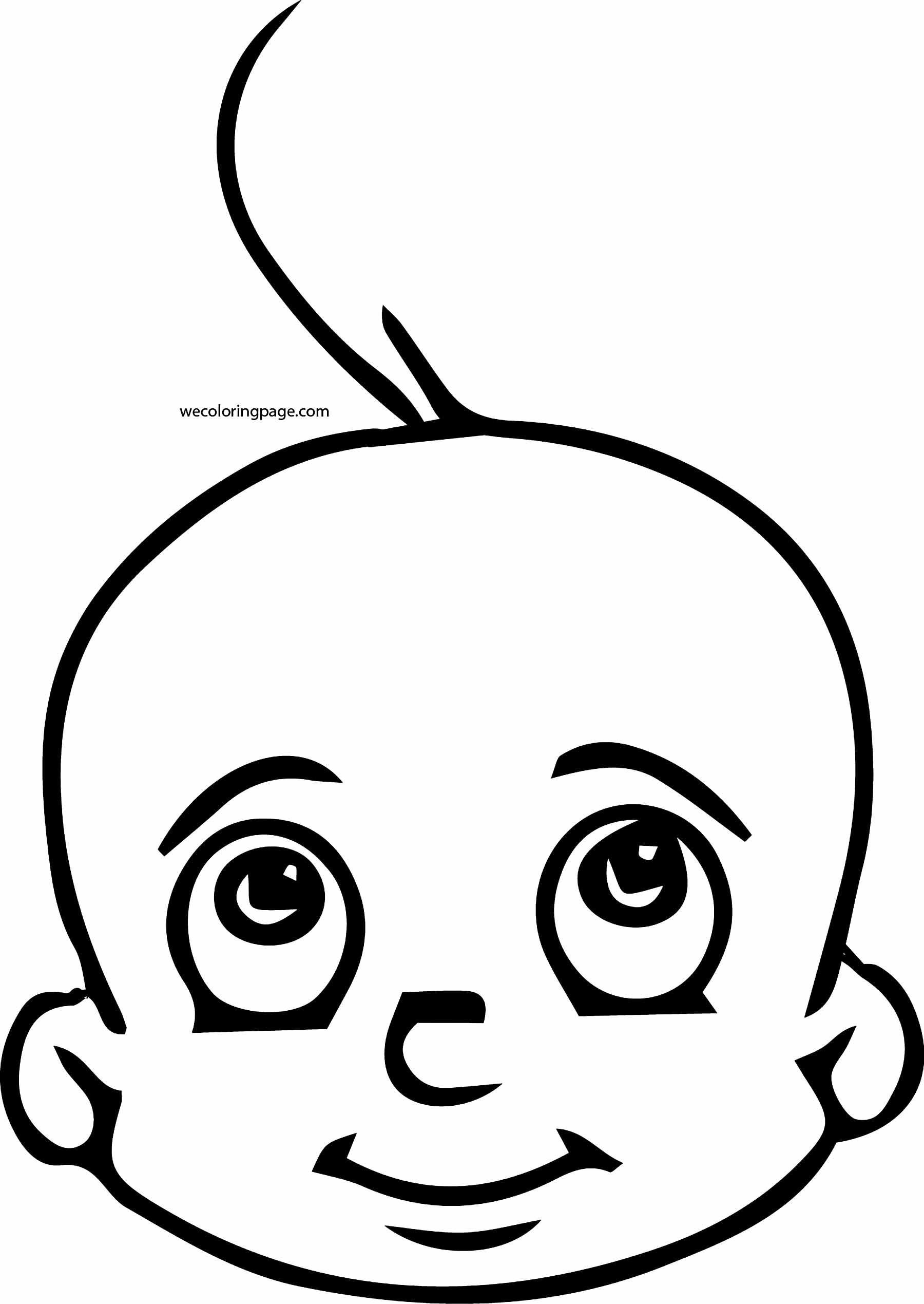 Chhota bheem baby face coloring page for Baby face coloring page