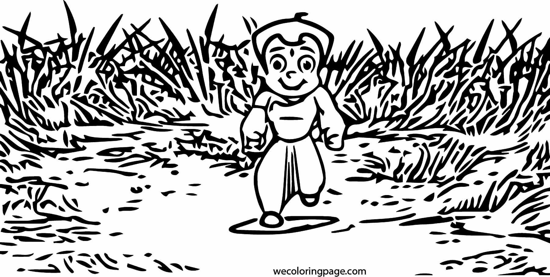 Chhota Bheem Carnival Coloring Page 46
