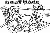 Chhota Bheem Coloring Page 36 Boat Race Coloring Page