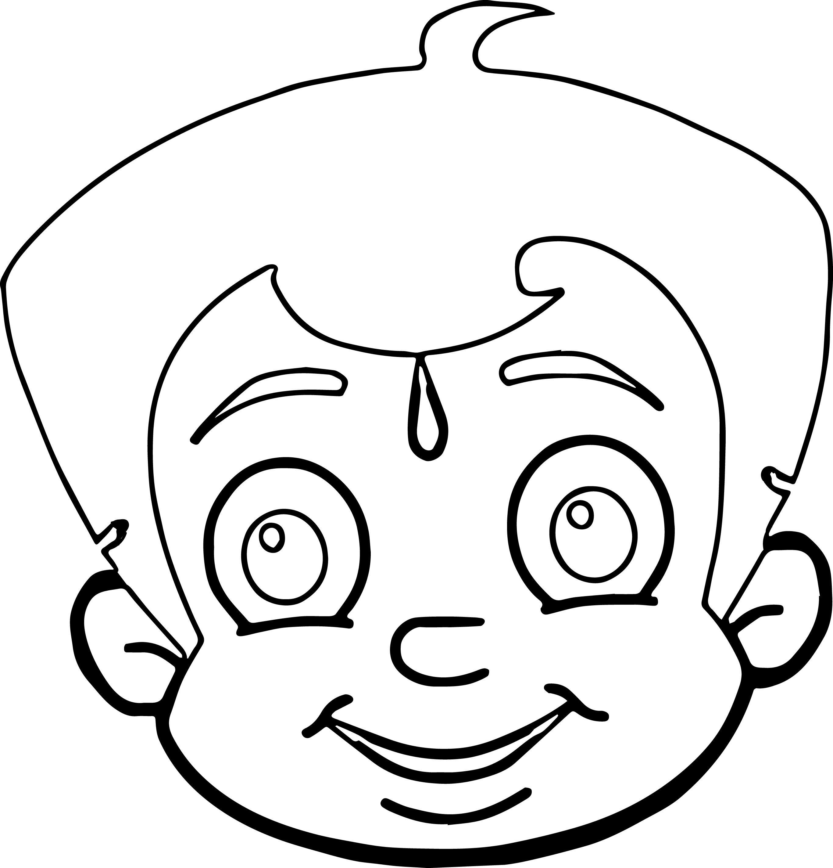 Chhota Bheem Coloring Page 36 One Face Coloring Page