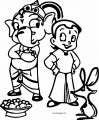 Chhota Bheem Ganesh Elephant Mouse Coloring Page 29