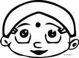 Chhota Bheem Girl Face Coloring Page