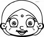 Chhota Bheem Girl Head Coloring Page