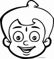 Chhota Bheem Head Coloring Page