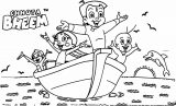 Chhota Bheem Hhota Bheem Bath Towel And Friends Play Coloring Page 38