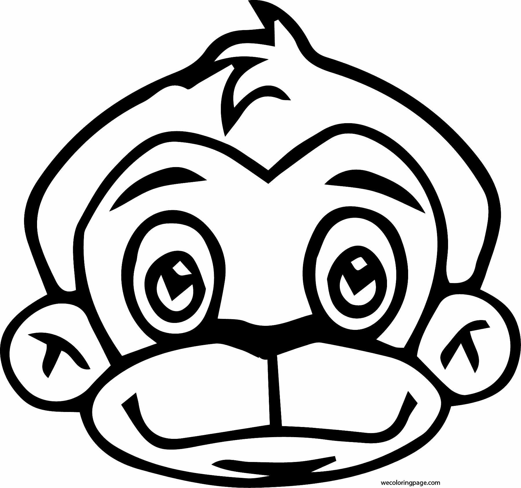 monkey face coloring pages - chhota bheem monkey face coloring page