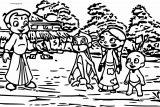 Chhota Bheem Shock Monkey Coloring Page